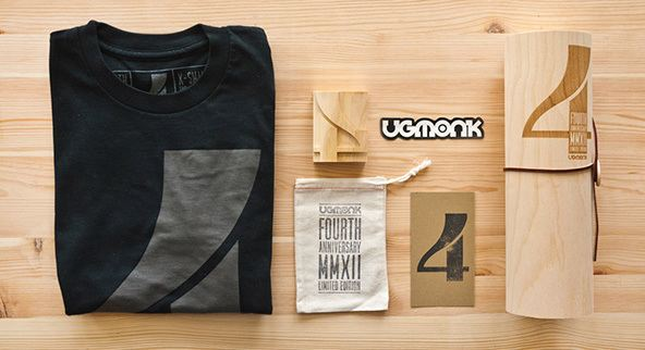 packaging de camisetas - packaging de madera