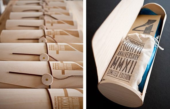 Packaging de Camisetas - Madera