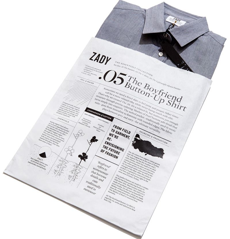 packaging de camisetas - papel periodico