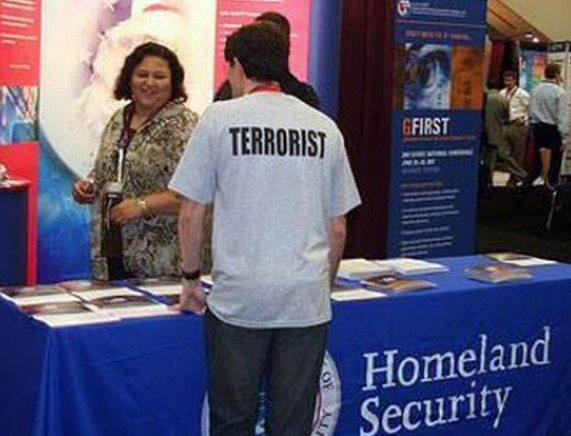 terrorista fails de camisetas