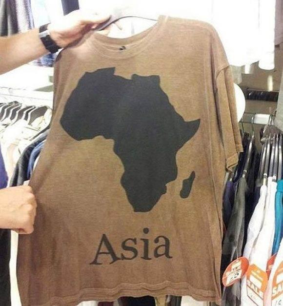 Africa no Asia - Fails de Camisetas